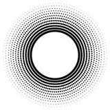 Ursprünglicher abstrakter Halbtonhintergrund von runden Punkten stock abbildung