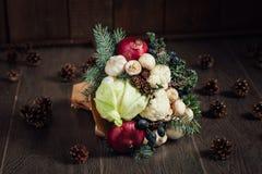 Ursprünglicher Blumenstrauß des Gemüses und der Früchte Lizenzfreie Stockfotografie