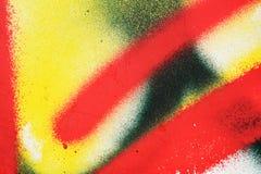 Ursprünglicher gelber roter heller Hintergrund Makronahaufnahmewand, gemalt der alten Farbe Stockbild