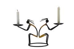 Ursprünglicher indischer Kerzenhalter vom Draht. Lizenzfreies Stockbild
