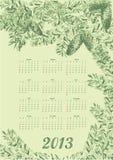 Ursprünglicher Kalender auf einem grünen Hintergrund Lizenzfreie Stockfotografie