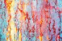 Ursprünglicher mehrfarbiger heller Hintergrund Makronahaufnahmewand, gemalt der alten Farbe Lizenzfreie Stockfotografie