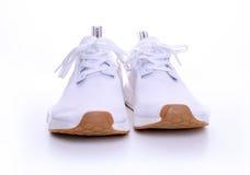 Ursprünglicher NMD R1 Gummi-Satz Adidass alles Weiß Lizenzfreies Stockfoto