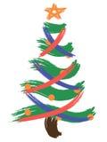 Ursprünglicher Weihnachtsbaum in Rotem und in Blauem Stock Abbildung