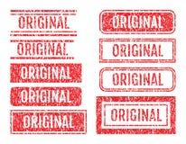 Ursprünglicher Wort-Stempel-Schmutz-Art-Satz Lizenzfreie Stockbilder