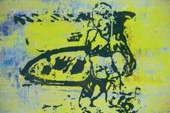 Ursprüngliches Ölgemälde stockbild