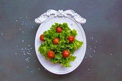 Ursprüngliches abstraktes Bild eines Salats Liebe des strengen Vegetariers stockbild