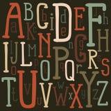 Ursprüngliches Alphabet vektor abbildung