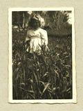 Ursprüngliches antikes Foto - junges Mädchen Stockbilder