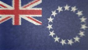 Ursprüngliches Bild 3D der Flagge des Kochs Islands lizenzfreie abbildung