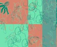 Ursprüngliches Blumenmuster lizenzfreie abbildung