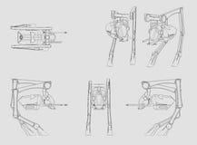 Ursprüngliches Design Walker Vehicles vorgelegt auf 3D CAD Lizenzfreie Stockfotografie
