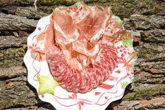 Ursprüngliches Lebensmittel der italienischen feinen Küche stockbild