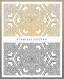 Ursprüngliches nahtloses Muster, hohe Qualität Rhythmisches Muster, basiert auf Symmetrie stock abbildung