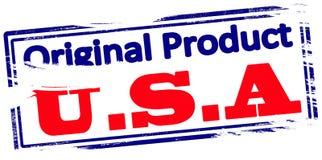 Ursprüngliches Produkt USA stock abbildung