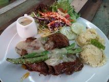 Ursprüngliches Schweinefleisch-Steak Stockfoto