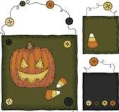 Ursprüngliches Volkskunst-Halloween-Set Stockfotografie