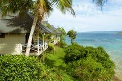 Ursprüngliches Wasser in einer South- Pacificinsel von Vanuatu Lizenzfreies Stockfoto