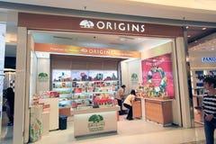 Ursprung shoppar i Hong Kong Arkivfoto