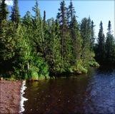 Ursprunglig Brule sjö - nordostliga Minnesota Royaltyfri Foto