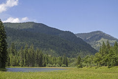 Ursprungs valley in Upper Bavaria Stock Photo