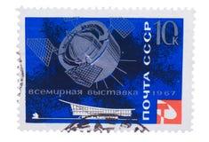 URSS - cerca de 1967: Añada, los sellos, sellos en el vsemyrnu de las demostraciones Foto de archivo