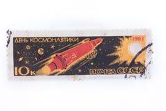 URSS - cerca de 1977: Añada, los sellos, sellos en encendido la demostración Co Foto de archivo