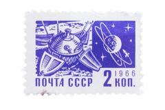 URSS - CERCA DE 1966: Um selo imprimiu dentro da sociedade e imagens de stock