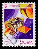 ` URSS, 1971, serie del ` Mars-2 del veicolo spaziale di giorno dello spazio, circa 1983 Fotografia Stock Libera da Diritti