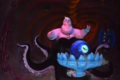 Ursula liten sjöjungfru - magiskt kungarike Walt Disney World royaltyfri bild