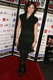 Ursula Taherian bij de Pan Afrikaanse Première van het Festival van de Film van ?Layla?. Het Theater van het Plein van Culver, Cul stock afbeelding