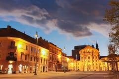 Ursuline教会,卢布尔雅那,斯洛文尼亚,欧洲。 图库摄影