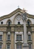 Ursuline Church av den heliga Treenighet i Ljubljana, Slovenien Fotografering för Bildbyråer
