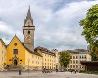 Ursuline church in Brunico - Italy Stock Photo