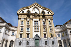 Ursuline Church of the Holy Trinity in Ljubljana Stock Photography