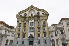 Ursuline Church of the Holy Trinity in Ljubljana, Slovenia. Stock Photo