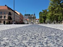 Ursuline Church of the Holy Trinity Ljubljana. Slovenia Stock Photo