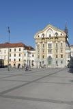 Ursuline Church of the Holy Trinity in Ljubljana Stock Image