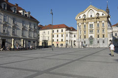 Ursuline Church of the Holy Trinity in Ljubljana Royalty Free Stock Photo