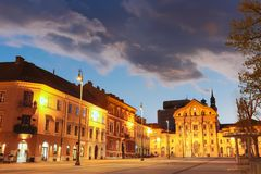 Ursuline Church, Ljubljana, Eslovênia, Europa. Fotografia de Stock