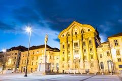Ursuline Church, Ljubljana, Eslovênia, Europa. Imagem de Stock Royalty Free