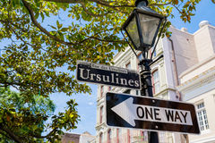 Ursulines street sign Stock Photo