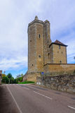 Ursulines Tower, in Autun. The Ursulines Tower, remaining element of the medieval fortress of Riveau, in Autun, Burgundy, France Stock Photo