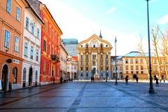 Ursulinska kyrka, Ljubljana, Slovenien Royaltyfria Bilder