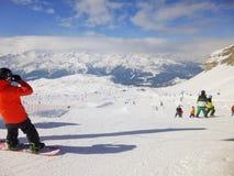 Ursus Snow park at Grostè stock photos