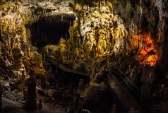 Ursus spelaeus cave in romanian mountains transilvania. Hall of Ursus spelaeus cave in noth-west romanian mountains bihor district transilvania Royalty Free Stock Images