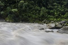 Urubamba河在秘鲁 免版税图库摄影