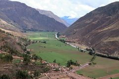Urubamba dal Peru royaltyfri bild