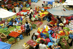 Urubamba farmer´s market, Peru Royalty Free Stock Images