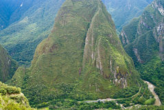 Urubamba Fluss bei Machu Picchu, Peru stockfotografie
